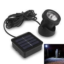 6 LED Underwater Solar Power Spot Light Outdoor Garden Lawn Lamp Waterproof