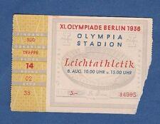 Orig.Ticket   Olympische Spiele BERLIN 1936 - Leichtathletik 08.08. mit Finale !