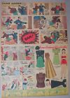 Jane Arden Sunday with Large Uncut Paper Doll from 12/10/1939 Tabloid Size Page!