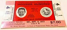 1973 Hoosier Hundred USAC Auto Racing Al Unser Sr. Ticket Stub