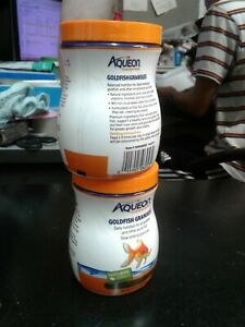 Aqueon - Goldfish Granules 5.8oz - Added Vitamins, Minerals & Trace 2 pack