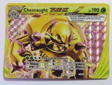 Chesnaught BREAK -12/162 XY BREAKthrough-UPSIDE DOWN ERROR/MISPRINT Pokemon Card