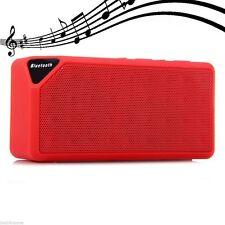 Portable X3 Bluetooth Wireless Mini Speaker TF Audio FM Radio Built-in Mic Color