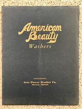 1920 American Beauty Washers Catalog Getz Power Washer Co Morton Illinois~109569