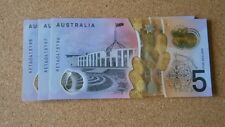 3 X 2016 $5 AUSTRALIAN NOTES, A- SERIES, UNC, FRASER/STEVENS, NEW ISSUE