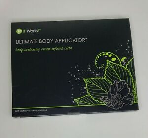 It Works! Ultimate Body Applicator Contouring Cream Infused Cloth NEW 4 Wraps