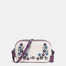 Coach Bag F59557 Crossbody Pouch in Naturally Refined Leather Chalk Agsbeagle