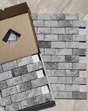 Tundra Small Subway Marble Mosaic Tile Wall Floor Kitchen Bathroom Splashback