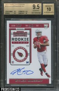 """2019 Contenders Rookie Ticket #101A Kyler Murray RC AUTO BGS 9.5 w/ 10 """" HOT """""""