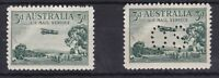 APD326) Australia 1929 3d Airmail Type B, normal and perf. OS. Fresh MUH