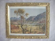 "ALBERT NAMATJIRA FRAMED PRINT UNDER GLASS ""AFTERNOON IN JAMES RANGE COUNTRY """