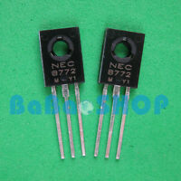 15pairs ( 2SB772 + 2SD882 ) NEC TO-126 B772 D882 3A PNP NPN TRANSISTOR New