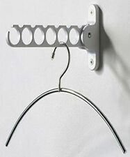 White Hook Hanger Wall Rack Holder Clothing Laundry Garment Storage Clothes Deco