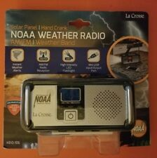 NOAA Weather Radio AM/FM/Weather Band/Solar Panel/LED Flashlight/Mini USB Port