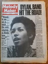 Melody Maker newspaper November 10th 1973 Marsha hunt and Bob Dylan band hit the