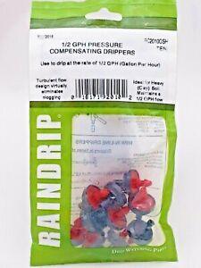 Raindrip PC2010OSH 1/2 GPH Pressure Compensating Irrigation Drippers Bag of 10