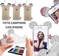 COVER CASE CUSTODIA TOPOLINO DIAMOND per APPLE IPHONE 7 + PELLICOLA DI VETRO