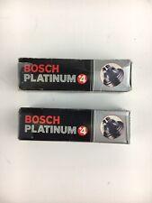 Two NEW Bosch Platinum +4  Spark Plugs 4418