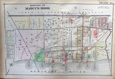 1913 MARCUS HOOK DELAWARE COUNTY PENNSYLVANIA ST. MARTIN'S CHURCH COPY ATLAS MAP