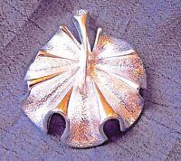"""Vintage Designer Signed Silver Tone Brooch Pin 1-1/2"""""""