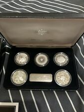 1989 MASTERPIECES IN SILVER THE SILVER DOLLAR SILVER PROOF SET WITH CERTIFICATE