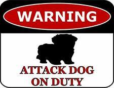 Warning Maltipoo Attack Dog On Duty Dog Sign SP501