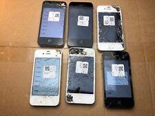 6x Apple iPhone 4 4 S 8 Go 16 Go 32 Go (iCloud Verrou) défectueux de clients article retourné
