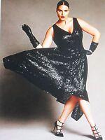 LANE BRYANT ISABEL TOLEDO NWT $208 black sequin women's dress with sash formal