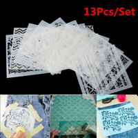 Lots 13pcs Embossing Template Scrapbooking Walls Painting Layering Stencils DIY