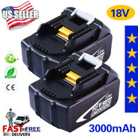 2 X 18V 3.0Ah Battery Lithium-ion For Makita BL1830 BL1815 LXT400 Replacement US