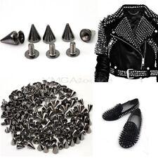 100pcs Gun Black Punk Spike Rivet Screw Bead DIY Metal Cone Studs Nailhead Spot