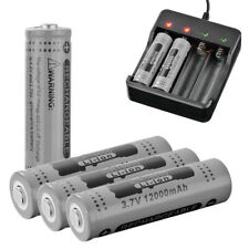 4Pcs Genuine GTL 18650 Battery 3.7V Rechargeable Li-ion 12000mAh Gray RC995