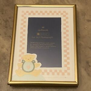 Hallmark Baby 3X4 Brass Frame with Bear