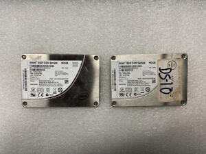"""Intel 320 Series SSDSA2BT040G3 2.5"""" 40GB SATA 3.0Gb/s SSD Hard Drive, Lot of 2"""