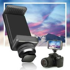 1/4Phone Clip Holder Flash Hot Shoe Screw Adapter Tripod Mount For DSLR Camera v