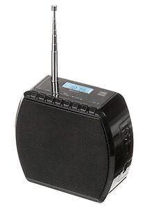 Küchenradio Steckdosen UKW Radio Bluetooth Lautsprecher Akku Bad klein Schwarz