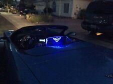 Corvette C5 WindRestrictor® brand wind blocker screen C5 flags & Blue light