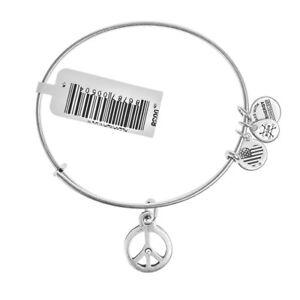 ALEX & ANI World Peace Silver Bangle A09EB139RS - RRP £33