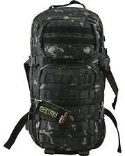 Black 28 Litre Small Assault BTP NEW Rucksack Black MTP Multicam Camping Airsoft