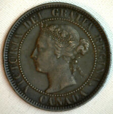 1901 Copper Canadian Large Cent Coin 1-Cent Canada XF #8
