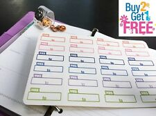 PP062 -- Work Time Planner Stickers for Erin Condren (24pcs) BUY2GET1FREE