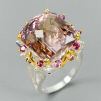 17x15 IF AAAA GEM Natural Ametrine 925 Sterling Silver Ring Size 8/R123688