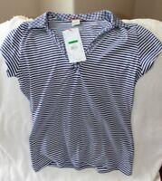Unionbay Union Bay Shirt Jr L Short Sleeve 100% Cotton Blues Everyday Striped