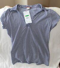 NWT UNIONBAY ub jeans Shirt Jr L Short Sleeve 100% Cotton Blues Everyday Striped