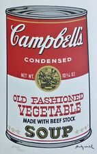 ANDY WARHOL CAMPBELL'S SOUP II OLD FASHIONED VEGETABLE SIGNED HAND NUMBERD LITHO