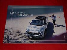 VW T-Roc Cabriolet Prospekt Brochure Depliant Folleto von 2020
