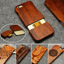 100% Real Handmade Wood Case Bamboo Wooden Cover for iPhone X 8 7 6 6s Plus 5 5s