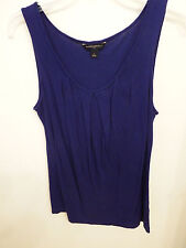 Banana Republic Rayon Blend Purple Blue Tank Top Pleated Front Solid Size S