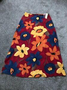 New Dorothy Perkins Multi Coloured Floral Print Maxi Skirt