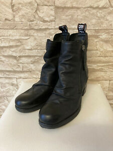 REPLAY * Stiefeletten * Boots * Schwarz * Leder * Blockabsatz * Gr. 38